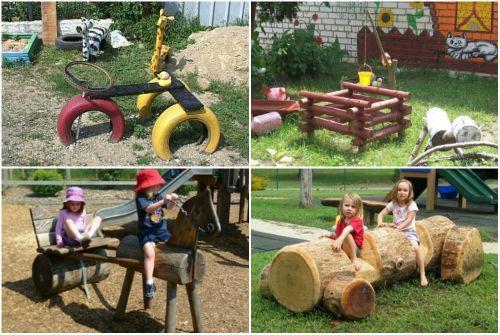 Поделки для детской площадки своими руками фото из дерева
