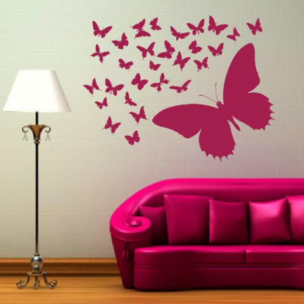 Бабочки для декора комнаты