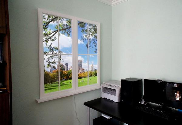 Как сделать декоративное окно на стене своими руками