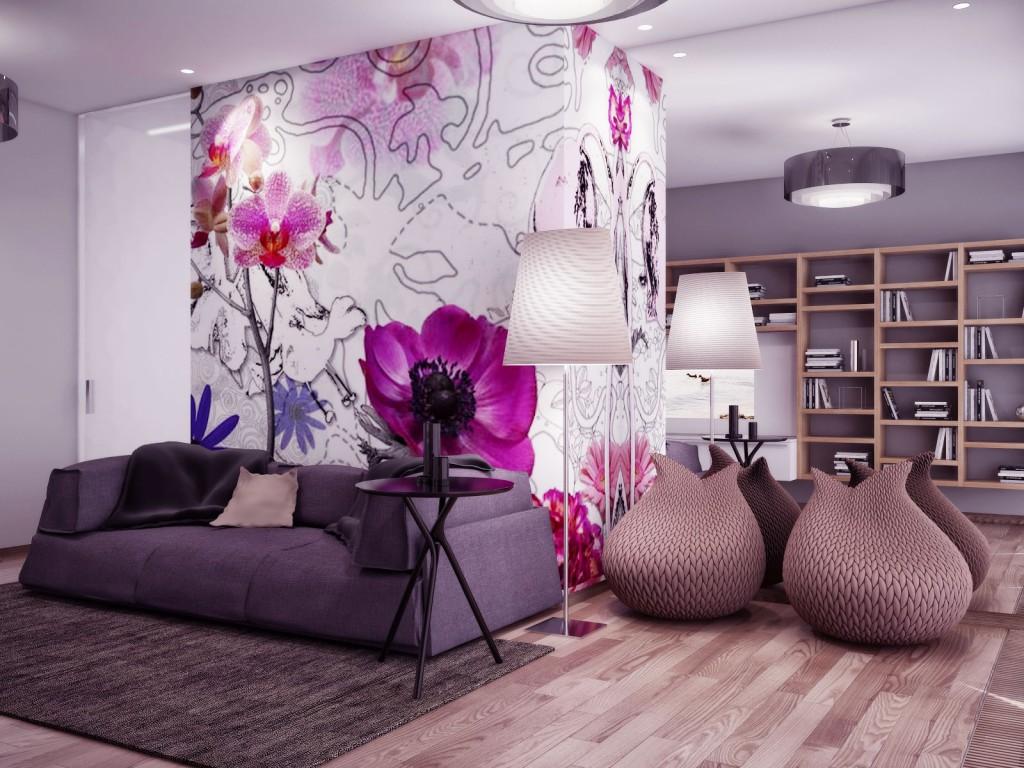 Цветы в интерьере в современном стиле