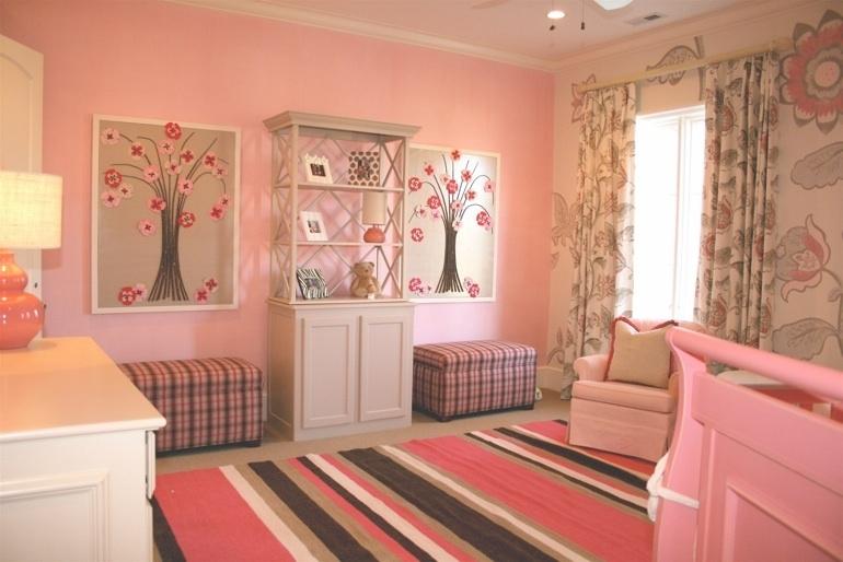 Сочетание розового с другими цветами в интерьере кухня