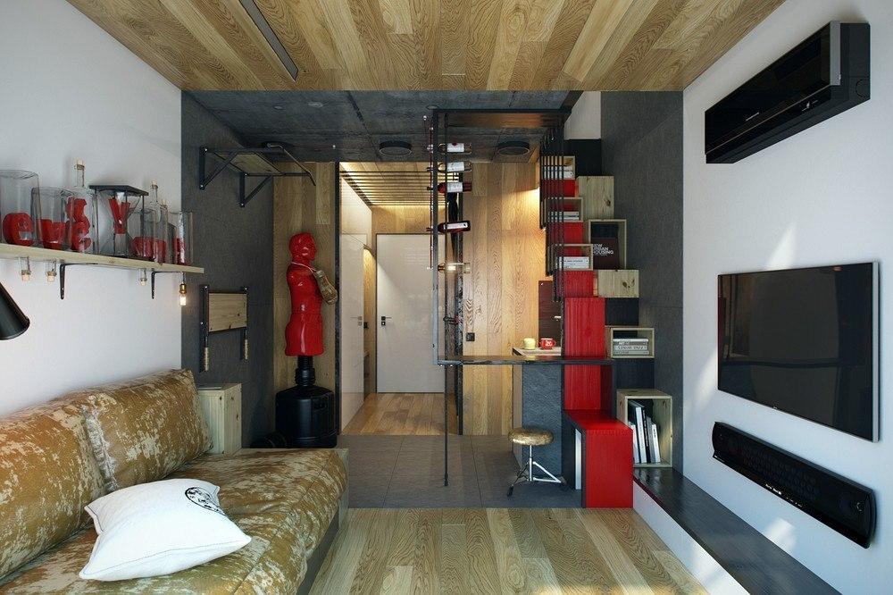 Дизайн 18 кв м в квартире