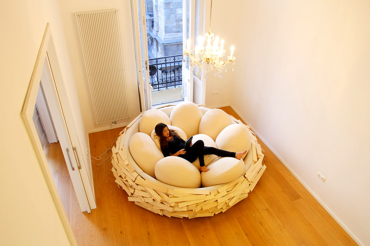 Кровать гнездо своими руками