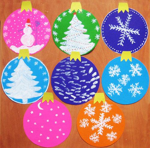 Новогодние игрушки из картона и цветной бумаги своими руками