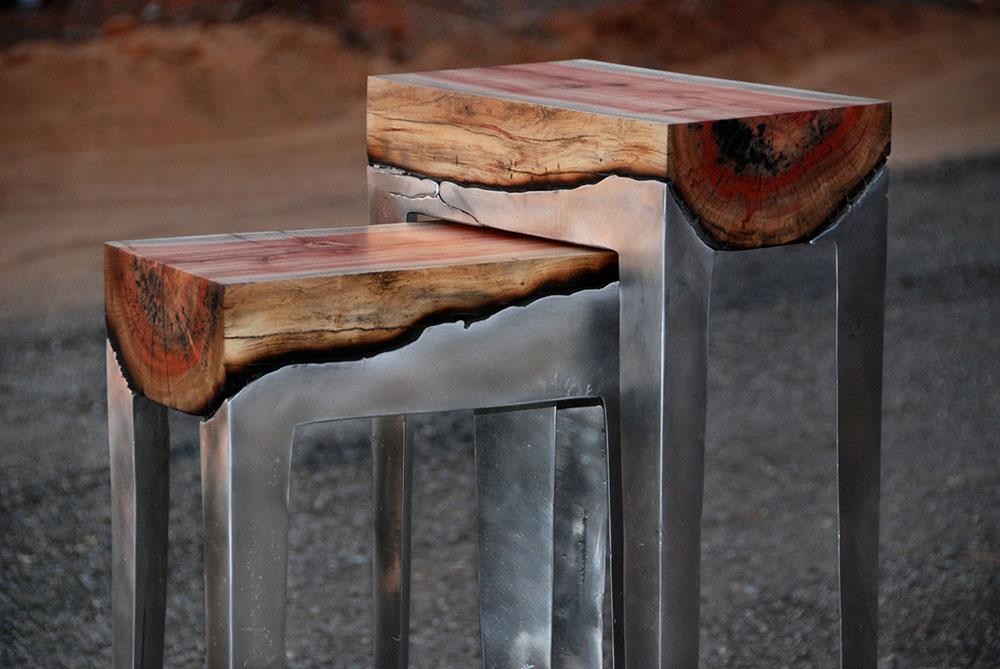 Metal and wood