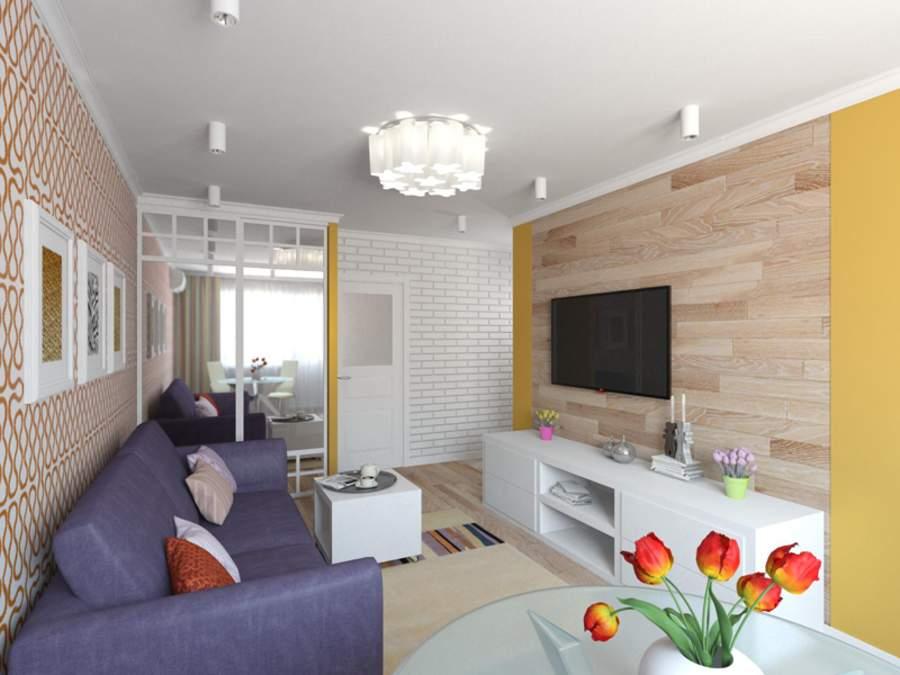 Планировка однокомнатной квартиры в доме серии п44т